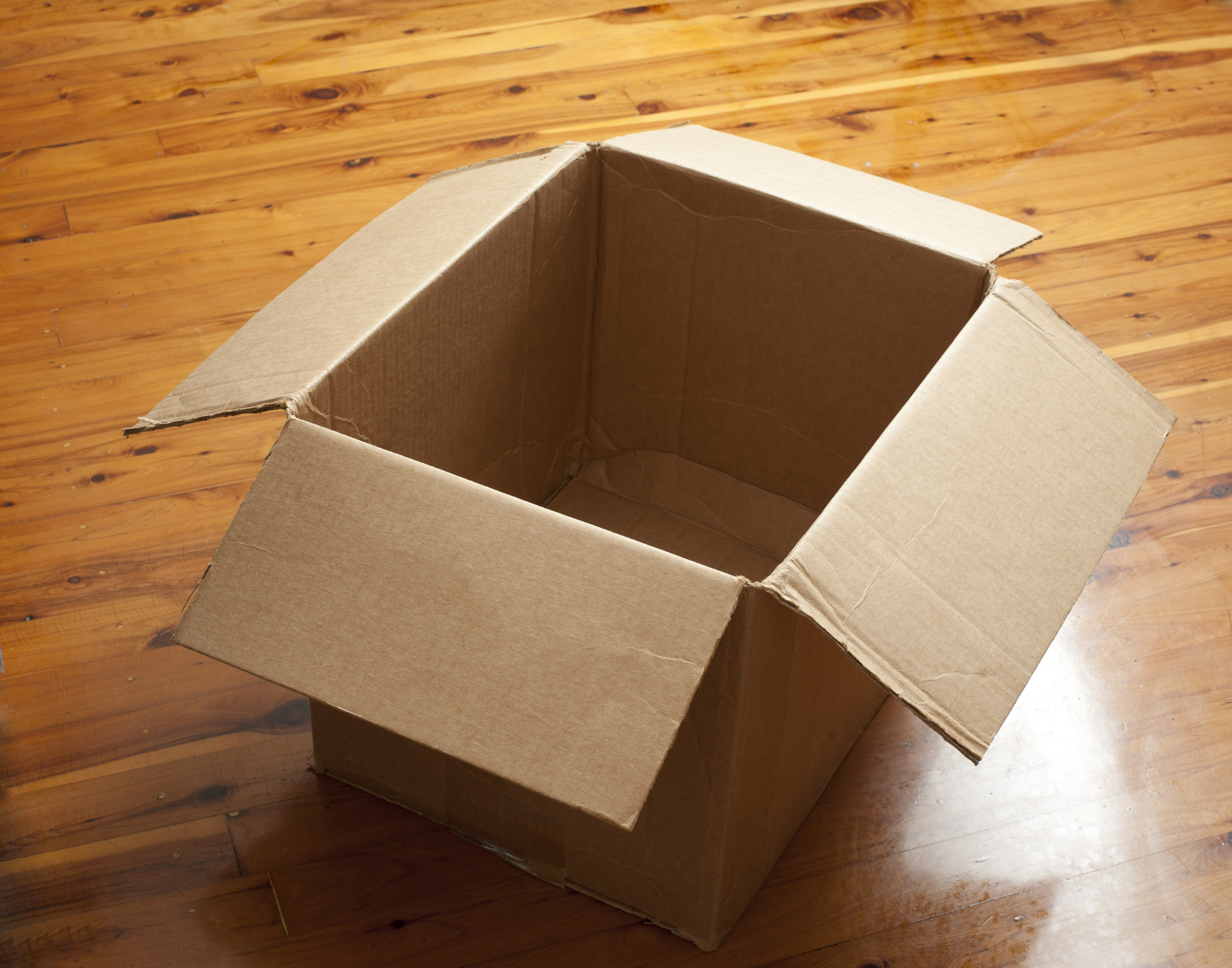 Emptied cardboard box